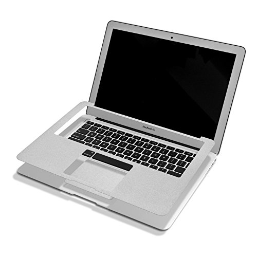 Herngee Full Palm Rest Protective Film Skin Cover with Keyboard Edges Skin Decal , Trackpad Protector Sticker for Macbook Air 13.3 Ihch, Silver (Touch Pad Cover compare prices)