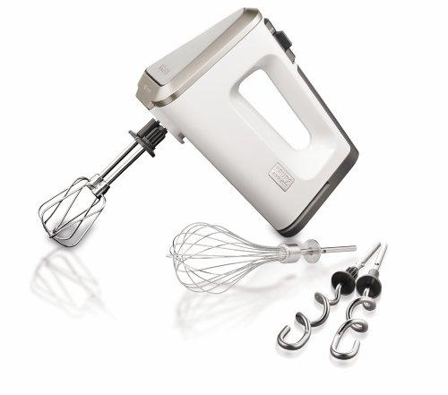 GN 901131/6R0 Handmixer 3 Mix 9000 Deluxe Schneebesen (500 Watt, mit Turbostufe ) Edelstahl-Schneebesen, Rührbecher, weiß /grau