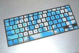 USキーボード(英語配列)用 MacBook Pro Air 13/15-inch 対応 キーボードカバー (スカイブルー迷彩)
