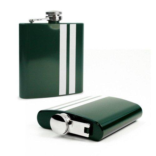 E-Volve Fiaschetta - 6oz - Accaio inox - verde banda
