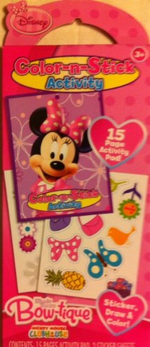 Disney Minnie Mouse Bow-Tique Color N Stick Activity Set