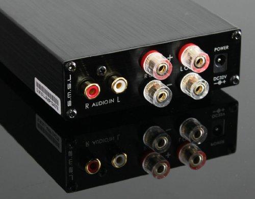SMSL SA-98E 2 * 160W TDA7498アンプステレオデジタルアンプ+電源アダプタ、トップHIFI  (ブラック Black) SMSL