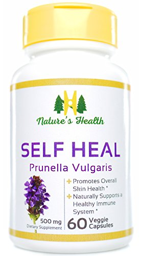 Self Heal - Prunella Vulgaris, Promotes Healthy Skin & Immune System Support, 100% Satisfaction Guarantee, 500 Mg, 60 Veggie Capsules, Nature's Health (Self Heal Cream compare prices)
