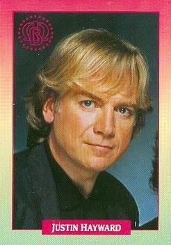 Justin Hayward trading Card (The Moody Blues) 1991 Brockum Rockcards