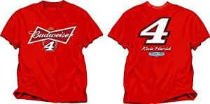NASCAR Kevin Harvick #4 Budweiser Fan Up T-Shirt by Checkered Flag