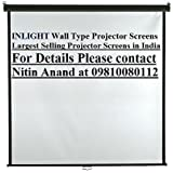 Inlight Wall Type Projector Screen, Size: - 7 Ft. X 5 Ft. (In Imported High Gain Fabric, A+++++ Grade)