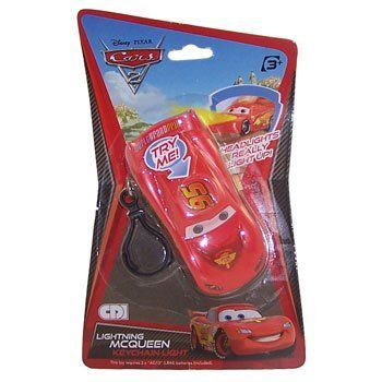 Disney Pixar - CARS 2 - LIGHTNING MCQUEEN (keychain with light)