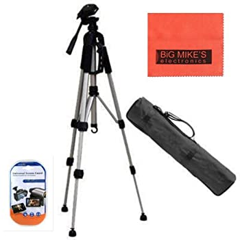 This Camera / Camcorder Tripod is designed for most film and digital cameras as well as camcorders. This tripod features a quick-release plate that makes it a breeze to switch to hand-held shooting and a professional grip for fluid 3-way panning and ...