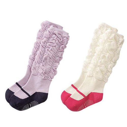 Deer Mum 2 Pairs Girl'S Princess Style Knee High Socks front-1007756