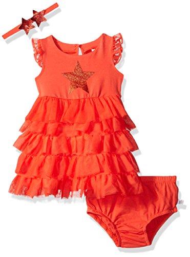 Rosie Pope Baby Girls Trapeze Dress with Star Headband