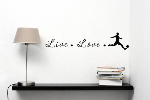 Live love soccer Vinyl Decal Matte Black Decor Decal Skin Sticker Laptop (Pooh Football compare prices)