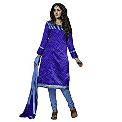 Typify Women's Chanderi Unstitched Dress Material (TYPIFY222_Multicolor_Free Size)