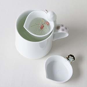 white porcelain bird design ceramic pottery personal tea leaf brewing infuser filter. Black Bedroom Furniture Sets. Home Design Ideas
