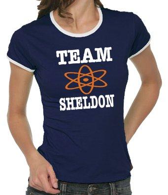 touchlines-t-shirt-femme-the-big-bang-theory-team-sheldon-bleu-bleu-marine-m