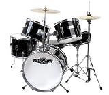 XDrum J-Pro-S Session Junior Pro Drumset (4-9 Jahre) und Drumschool inkl. DVD, schwarz