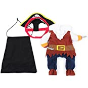 Imported Pet Dog Cat Pirate Shape Apparel Doggy Clothes Costume Dress Suit Outfit S