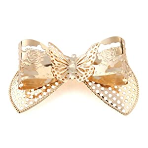 Generic Golden Bowknot Accessories Fit clothing