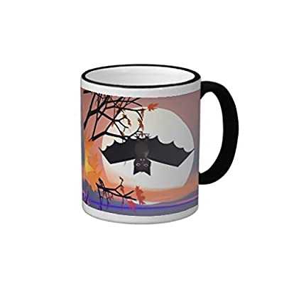 "luRouse Halloween Bat in Tree Coffee Mug 3.7"" x 3.1"" ,11oz"