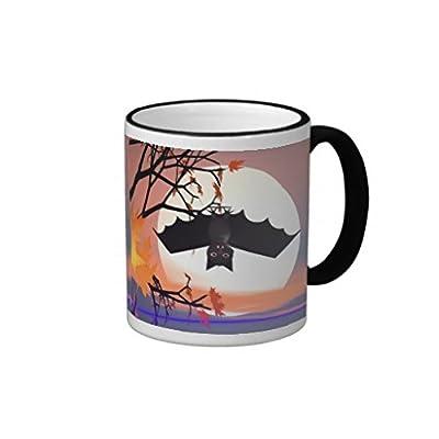 """luRouse Halloween Bat in Tree Coffee Mug 3.7"""" x 3.1"""" ,11oz"""