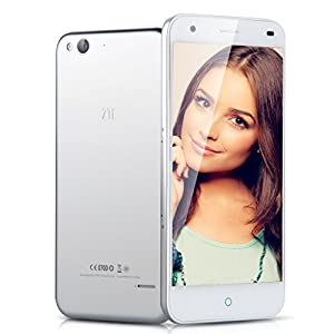 5'' ZTE Blade S6 IPS HD Screen 4G Smartphone Android 5.0 Android L Qualcomm MSM8939 Octa Core Mobile Phone Dual SIM Dual Standby 2G RAM 16G ROM 8.0MP Back Camera GPS Air Gesture Cellphone WIFI, Silver