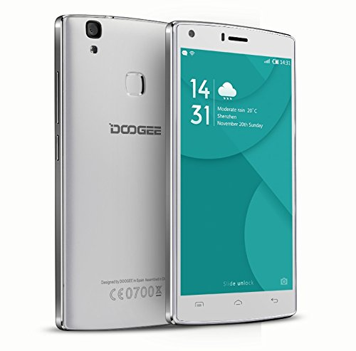 DOOGEE X5 MAX PRO, 4g lte smartphone, 4000mAh grande batteria, 8MP + 8MP CAMERA, impronta digitale smartphone, dual sim, 5 pollici smartphone, HD LCD, Android 6, cellulari android, smartphone android