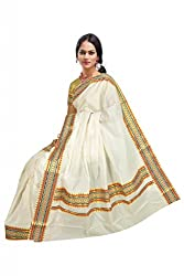 Atex Cotton Saree with Blouse (5177_Ivory)