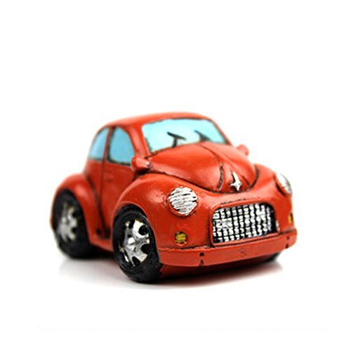 Creative Gifts Resinous Small Ornaments Vintage Car Model(Orange 6.5CM)