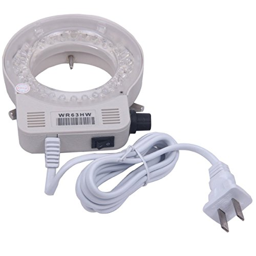 Signstek 56 LED Adjustable Ring Light Illuminator Lamp & Adapter for Stereo Microscope