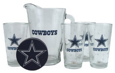 ForSale 2013 Dallas Cowboys Pint Glasses and Beer Pitcher Set ...