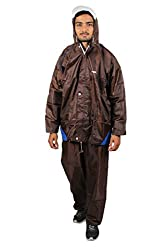 Lotus Stylish Blaze Mens Rain Suit (Reversible) (Brown, X-Large)