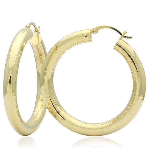 Little Treasures 14 ct Gold Hoop Earrings 4mm X 1.2
