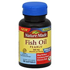 Nature Made Fish Oil, 500 mg, Pearls 90 softgels