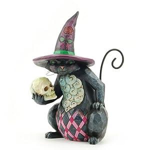 Enesco 4027796 Jim Shore Heartwood Creek Pint Sized Halloween Cat Figurine, 5-1/4-Inch