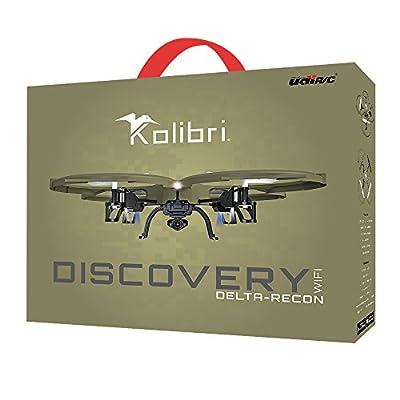 Kolibri U818A Wi-Fi Discovery Delta-Recon Quadcopter Drone Tactical Edition with 720p HD Camera (Military Matte Drab Green)