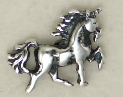 A Perfect Little Unicorn Stud Earring in Sterling Silver...A Single, Why Buy Two, When You Only Need One?