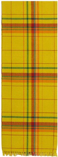 Traders & Co. Durable Hand Woven 100% Cotton Colorful Yellow and Green Plaid Table Runners 12x72 Inches Set of Two at Sears.com
