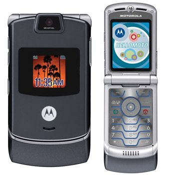 Motorola RAZR V3 Unlocked Cell Phone with Video Player--International Version with No Warranty (Gun Metal Gray)