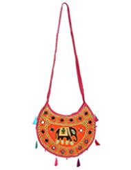Rajrang Cotton Embroidered Ladies Designer Shoulder Bags Women Handbag
