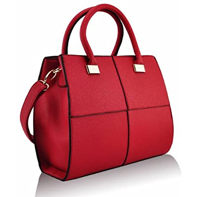 KCMODE Ladies Designer Celebrity Rich Vintage Squares Womens Tote Bag Larger Handbag - satchels