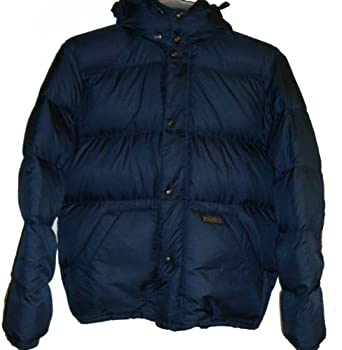 Buy Polo Ralph Lauren Mens Puffer Quilted Down Hooded Jacket Hoodie Puffy Coat Navy by Polo Ralph Lauren