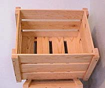 Slatted 16 x 16 x 13 Slatted Knockdown Crate