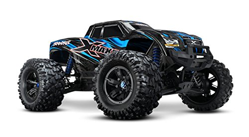 Traxxas X-Maxx 4WD Brushless Electric Monster RTR Truck with TQi 2.4GHz Radio & Self-Righting, Blue (Traxxas Truck compare prices)