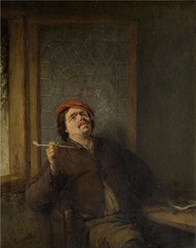 Oil Painting 'The Smoker By Adriaen Van Ostade' Printing On Perfect Effect Canvas , 18x23 Inch / 46x58 Cm ,the Best Kitchen Gallery Art And Home Decoration And Gifts Is This Cheap But High Quality Art Decorative Art Decorative Prints On Canvas (Redline Smoker compare prices)
