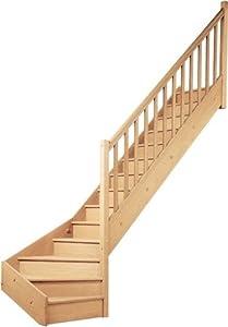 geschosstreppe 1 4 gewendelt raumspartreppe treppe holztreppe wendeltreppe rechts. Black Bedroom Furniture Sets. Home Design Ideas