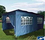 Quictent 3m x 6m Navy Easy Pop-Up heavy duty Steel Outdoor party tent Gazebo with sidewalls