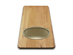 Snow River 7V03351 12-Inch by 24-Inch by 3/4-Inch Over the Sink Board with Stainless Steel Wire Basket