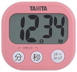 TANITA でか見えタイマー フランボワーズピンク TD-384-PK