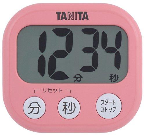 TANITA デジタルタイマー でか見えタイマー フランボワーズピンク TD-384-PK