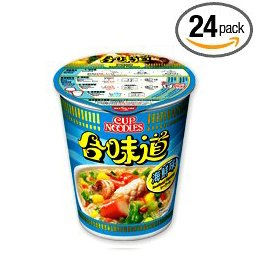 Nissin Seafood Instant Authentic HK Japanese Ramen Cup Of Noodles Soup (24 Packs)