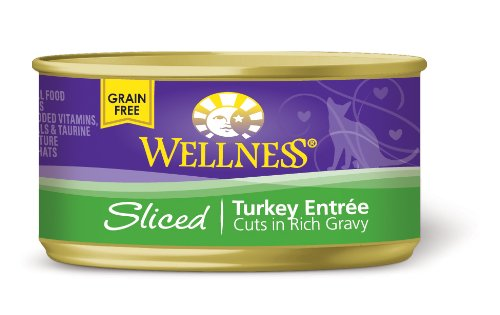 Wellness Canned Cat Food, Sliced Turkey Entree, 24-Pack of 3-Ounce Cans